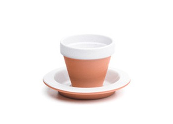 Stone Coffee Cup + Plate